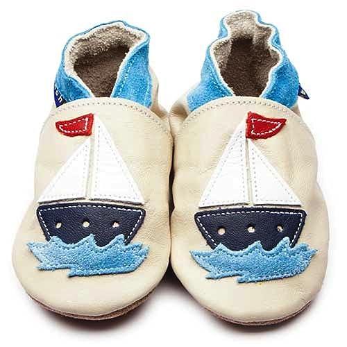 """Zapatos Inch Blue de cuero blando crema con""""Velero"""", ..."""