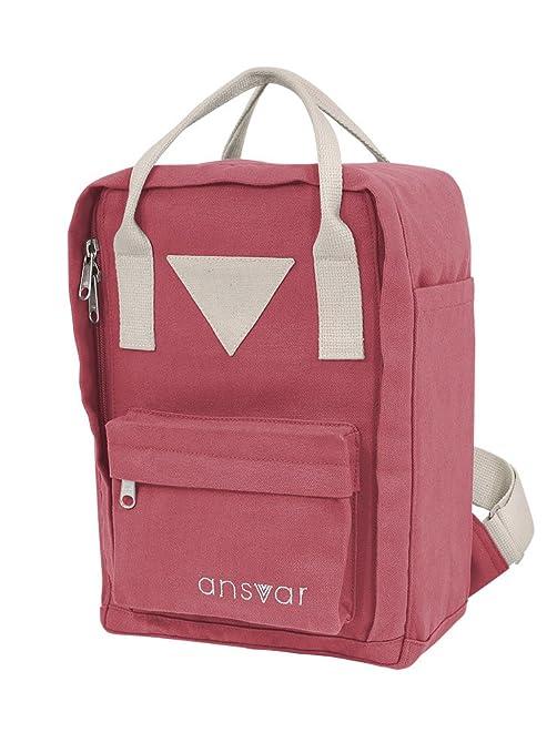 d5660ad494e30 Mini Backpack ansvar IV aus Bio Baumwoll Canvas - Hochwertiger Rucksack aus  100% nachhaltigen Materialien