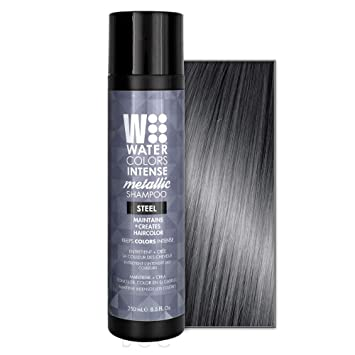 Amazon Com Water Colors Intense Metallic Shampoo Steel 8 5oz