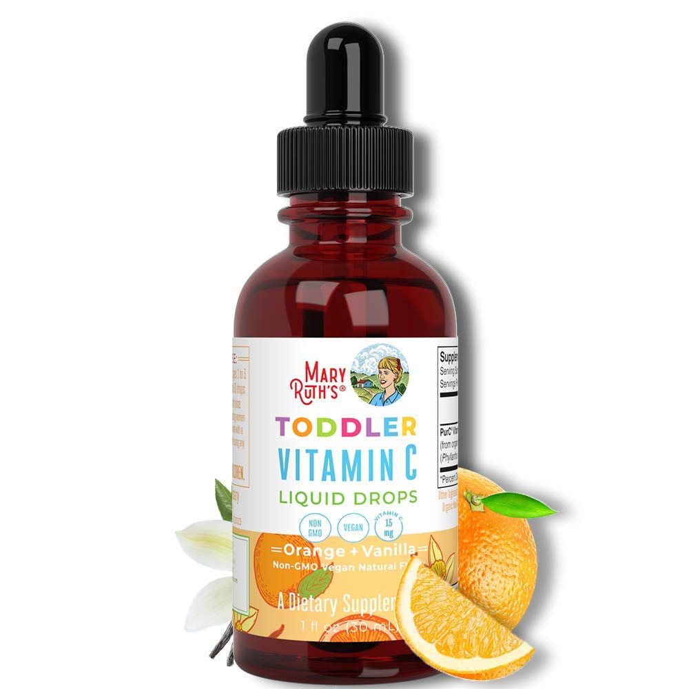 Toddler Vitamin C Drops by MaryRuth's | Vegan Vitamin C Supplement for Ages 1-3 | Immune Support & Overall Health | Vitamin C from Organic Amla Fruit Extract | 1oz
