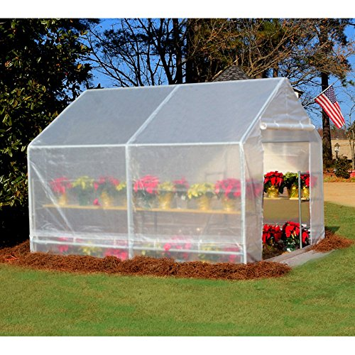 618eBJ0U3iL - King Canopy GH1010 10-Feet by 10-Feet Fully Enclosed Greenhouse, Clear