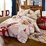 TheFit Paisley Bedding for Adult, T94 Route66 State America Duvet Cover Set Farley Velvet, Queen Set, 4 Pieces