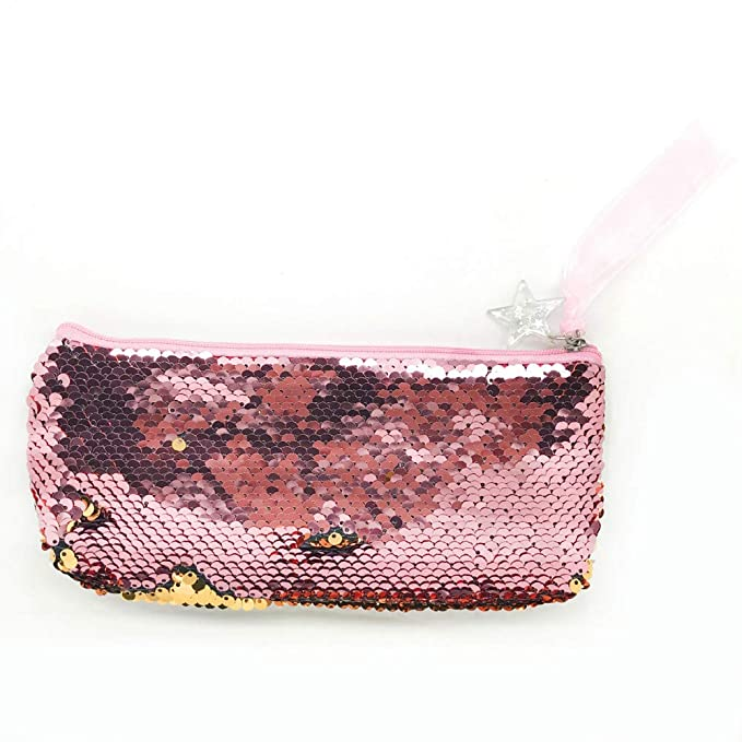 Amazon.com: HIKO23 Mermaid Sequin Cosmetic Bag Magic Sequins ...