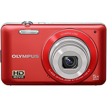 Amazon Olympus VG 120 14 MP Digital Camera 5X Wide Angle Optical Zoom 26mm 3 LCD Red Old Model Photo