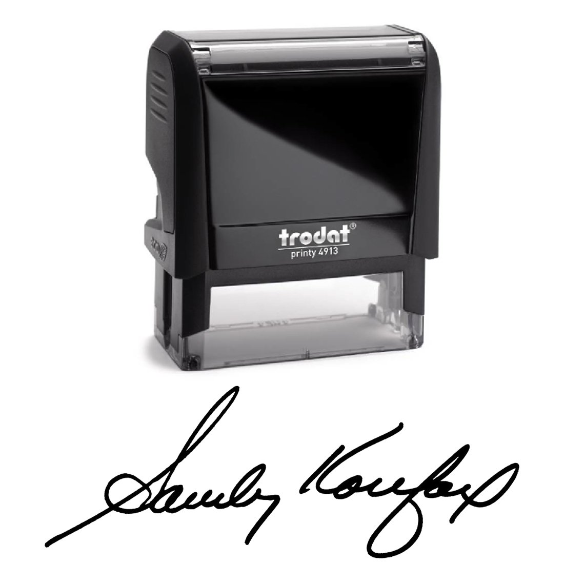 Black Ink, Signature Stamp, Self Inking. Your Own Signature Customized into the Best Quality Stamper. Great For Regular Signing, Sign Off Checks, Contracts, Certificates… Color Options Available.