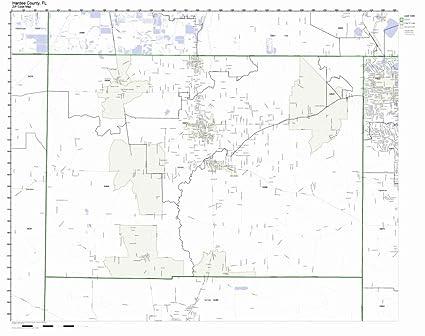 Amazon Com Hardee County Florida Fl Zip Code Map Not Laminated