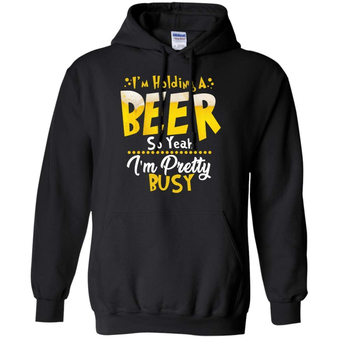 TeeAbelia Im Holding A Beer So Yeah Im Pretty Busy Funny Beer Gift Shirt