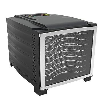 Deshidratador de alimentos grande rectangular eléctrico con bandeja de 8 capas temporizador de marco de baja
