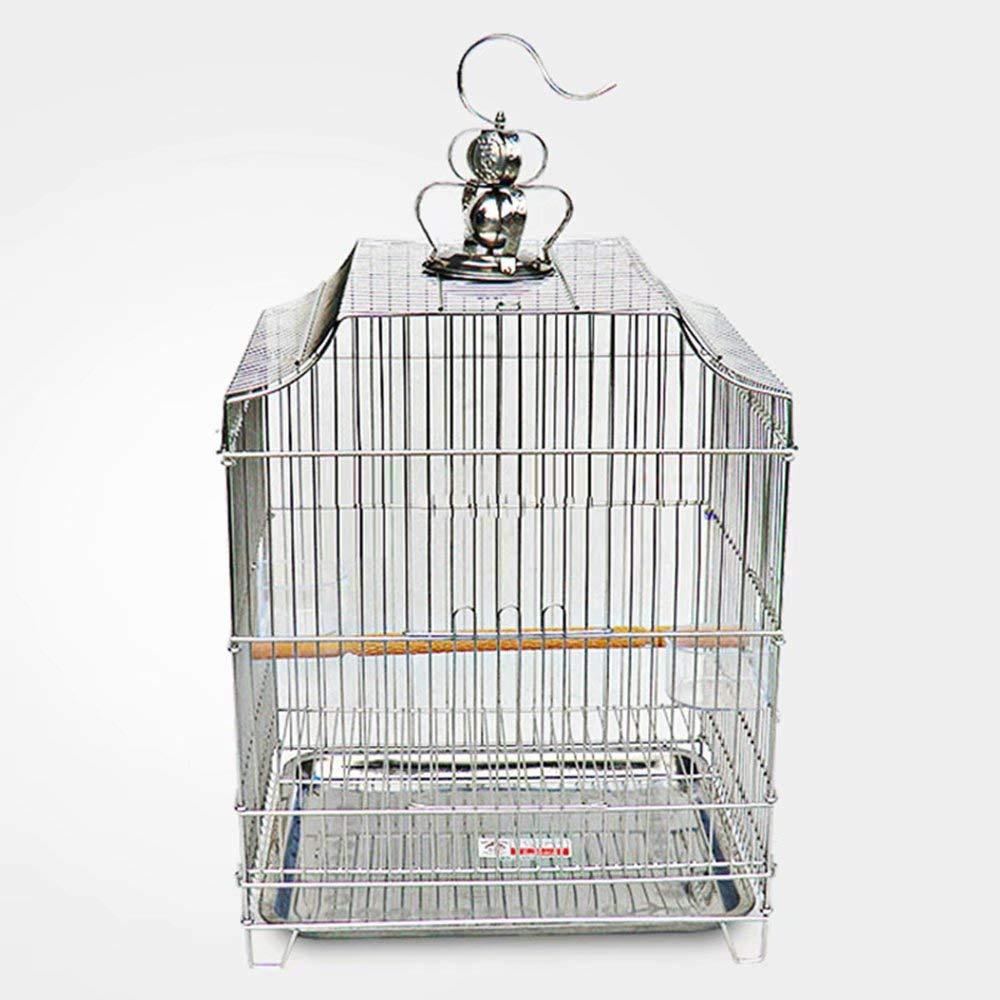 GL-birdcage Jaula Cuadrada para pájaros, estornino zorzal Loro ...