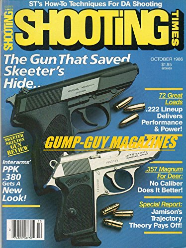 Shooting Times October 1986 Magazine SKEETER SKELTON GUN REVIEW: THE GUN THAT SAVED SKEETER'S HIDE...