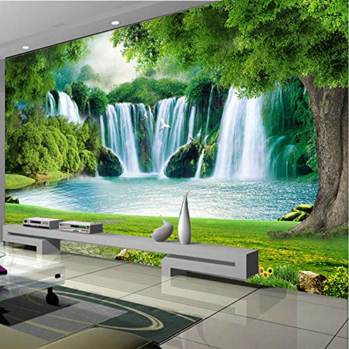 xbwy Custom Photo Wallpaper 3D Waterfall Nature Landscape Wall Painting Living Room Bedroom Home Decor Waterproof Wall Paper for Wall-120X100Cm (Waterfall Wallpaper)