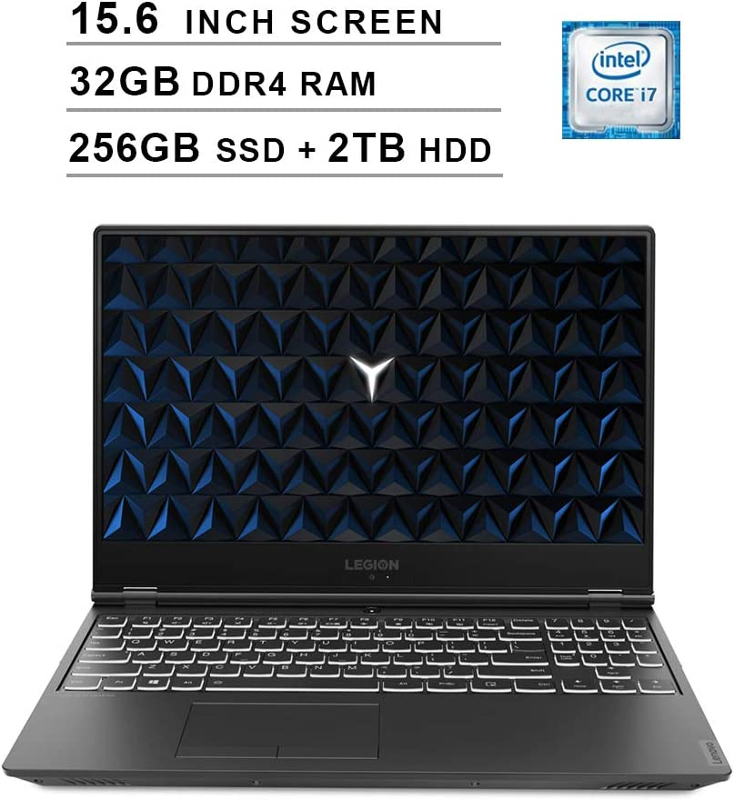 Lenovo 2020 Legion Y540 15.6 Inch FHD IPS Gaming Laptop (9th Gen Intel 6-Core i7-9750H up to 4.5 GHz, 32GB RAM, 256GB PCIe SSD + 2TB HDD, Nvidia GeForce GTX 1660 Ti, Bluetooth, WiFi, HDMI, Windows 10)