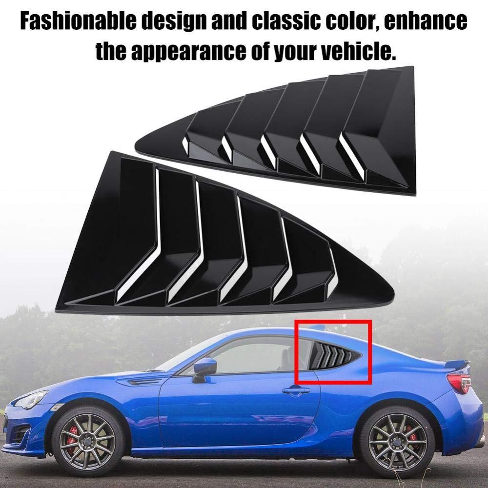 Acouto Left /& Right Side Window Louvers Vent Cover Trim ABS for Toyota 86//Scion FR-S Subaru BRZ 13-18 Black//Carbon Fiber Carbon Fiber