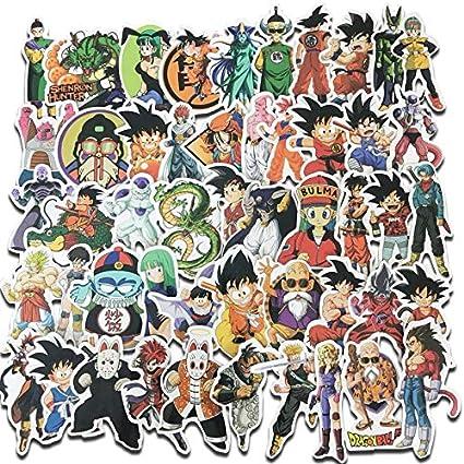 100 Pcs Dragon Ball Z Anime Super Saiyan Goku Stickers Decal For Laptop Phone