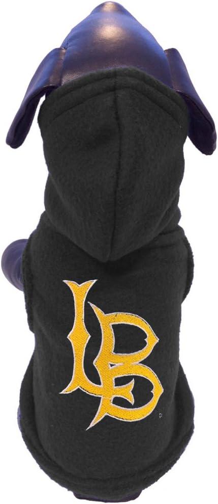 X-Small NCAA Long Beach State 49ers Polar Fleece Hooded Dog Jacket