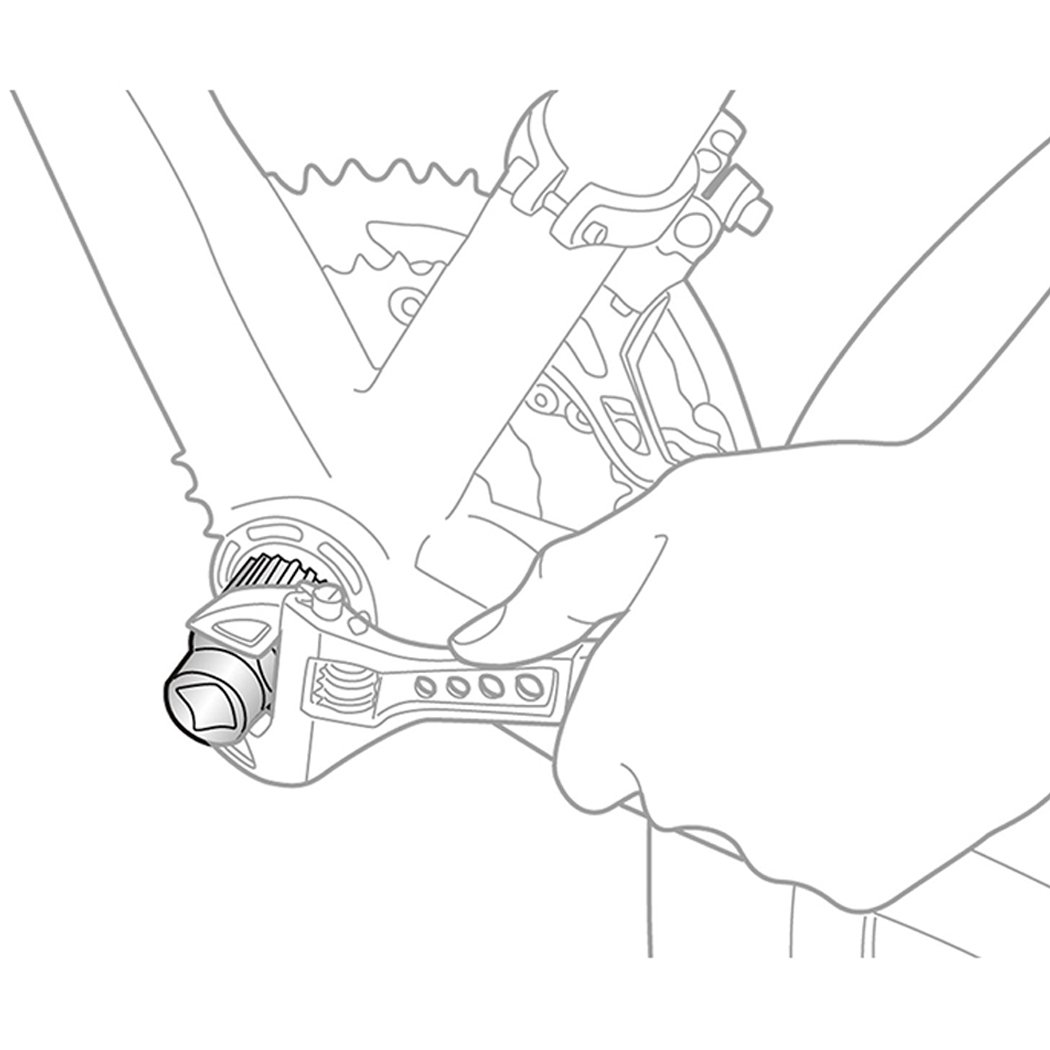 Malayas/® Outil D/émontage D/émonte Bo/îtier de P/édalier Extracteur Manivelle pour V/élo VTT Shimano Bottom Bracket Removal Tool Set