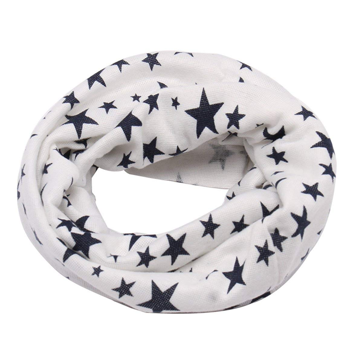 Couleur: blanc /Écharpe Enfants Col Unisexe Cou Foulards Star D/écoration Anneau Solid Design Gar/çons Filles Foulards V/êtements Accessoires