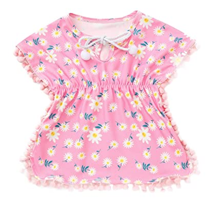 5963bed1e Amazon.com: ❤ Mealeaf ❤ Kids Baby Girls Dress Floral Beach ...