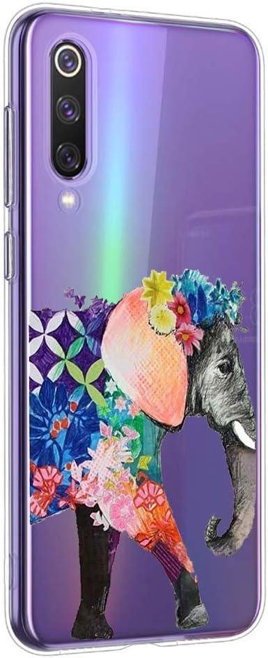 Oihxse Funda Xiaomi Redmi Note 8, Ultra Delgado Transparente TPU Silicona Case Suave Claro Elegante Creativa Patrón Bumper Carcasa Anti-Arañazos Anti-Choque Protección Caso Cover (A12)