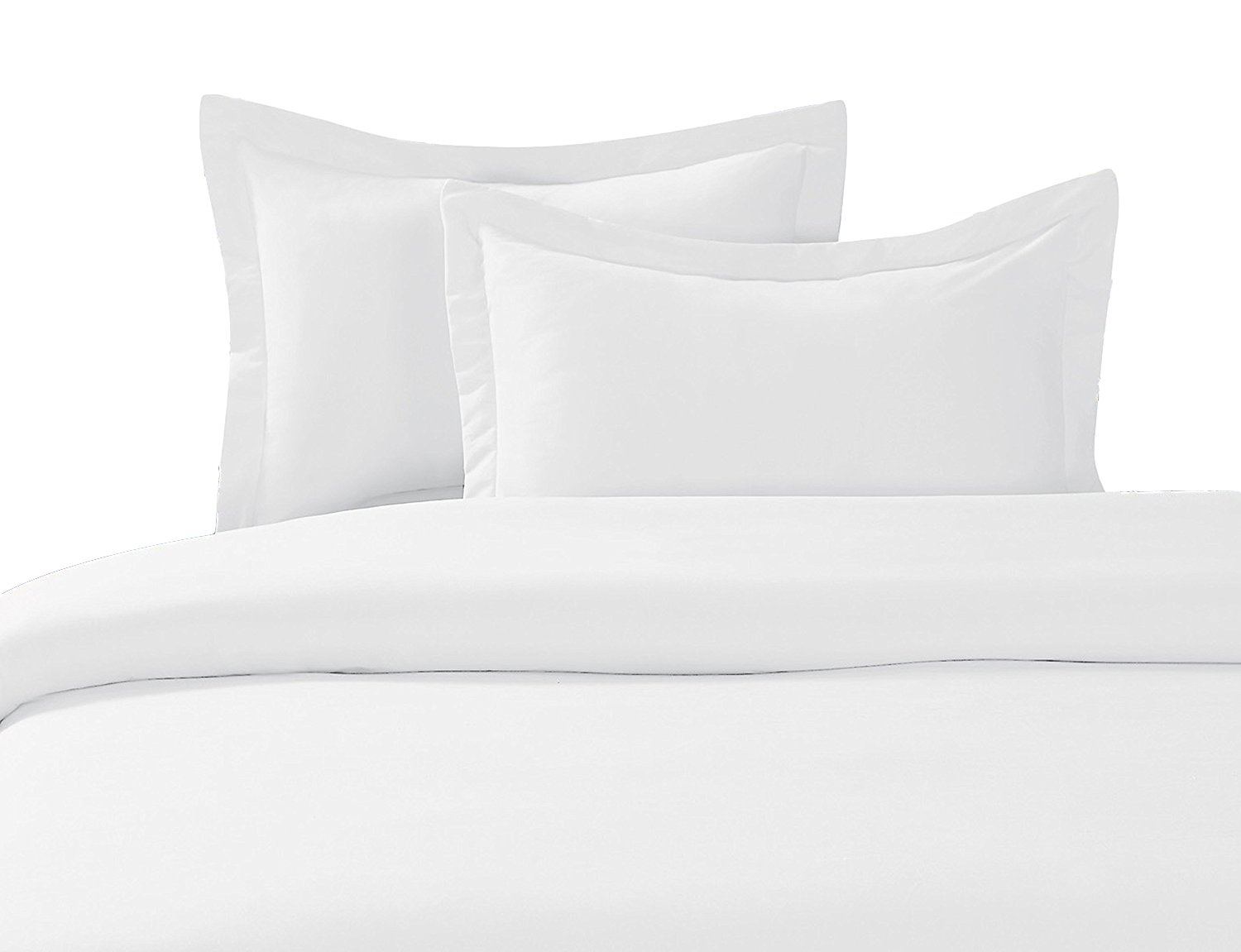 100% Cotton- Duvet Cover Set with Buttons Enclosure, 300TC - Solid White, Twin/Twin Extra Long (XL), 2PC Duvet Covers