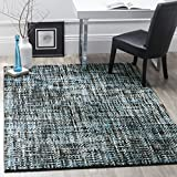 Safavieh Porcello Collection PRL6941G Charcoal and Blue Area Rug (5′ x 8′)