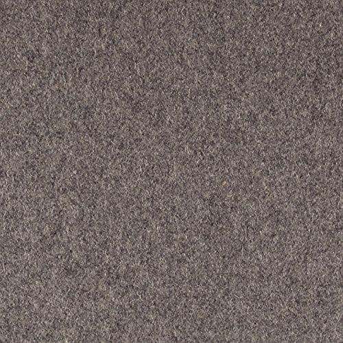 TELIO Wool Blend Melton Light Grey Mix Fabric by The Yard