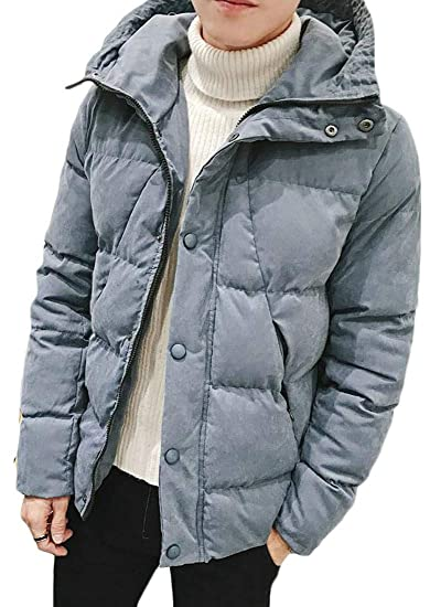 4e9ca206a9e4c Cromoncent Men s Winter Warm Plus Size Hooded Packable Quilted Down Jacket  Parka Coat at Amazon Men s Clothing store