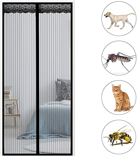 GOUDU Mosquitera Magn/éTica Mosquiteras a Medida con Durable Anti Insectos Moscas y Mosquitos 28x75inch Blanco 70x190cm para Balcones
