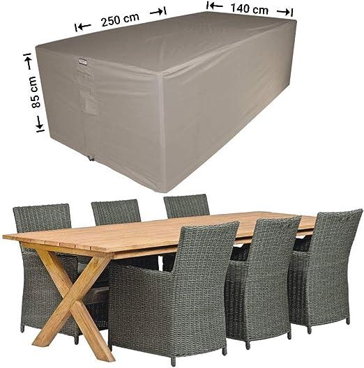 Raffles Covers NW-RDS250140 Funda para Muebles de jardín 250 x 140 H: 85 cm Funda para Juego de Patio, Cubierta para Juego de Comedor al Aire Libre, Juego de Muebles de jardín: