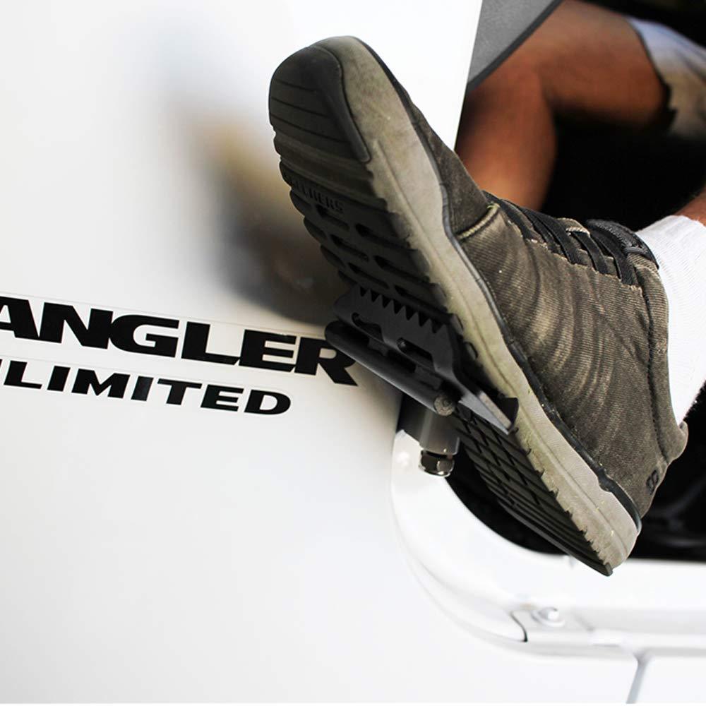 Xprite Door Hinge Folding Foot Pedal Peg Side Step for Jeep Wrangler JK /& JKU 2007-2018