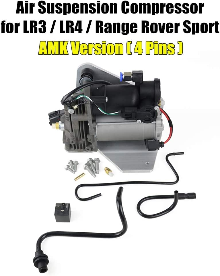 Air Suspension Compressor Pump & Relay LR015303 LR023964 for La-nd Range Rover Sport LR3 LR4 For AMK Style (4 pins connector)
