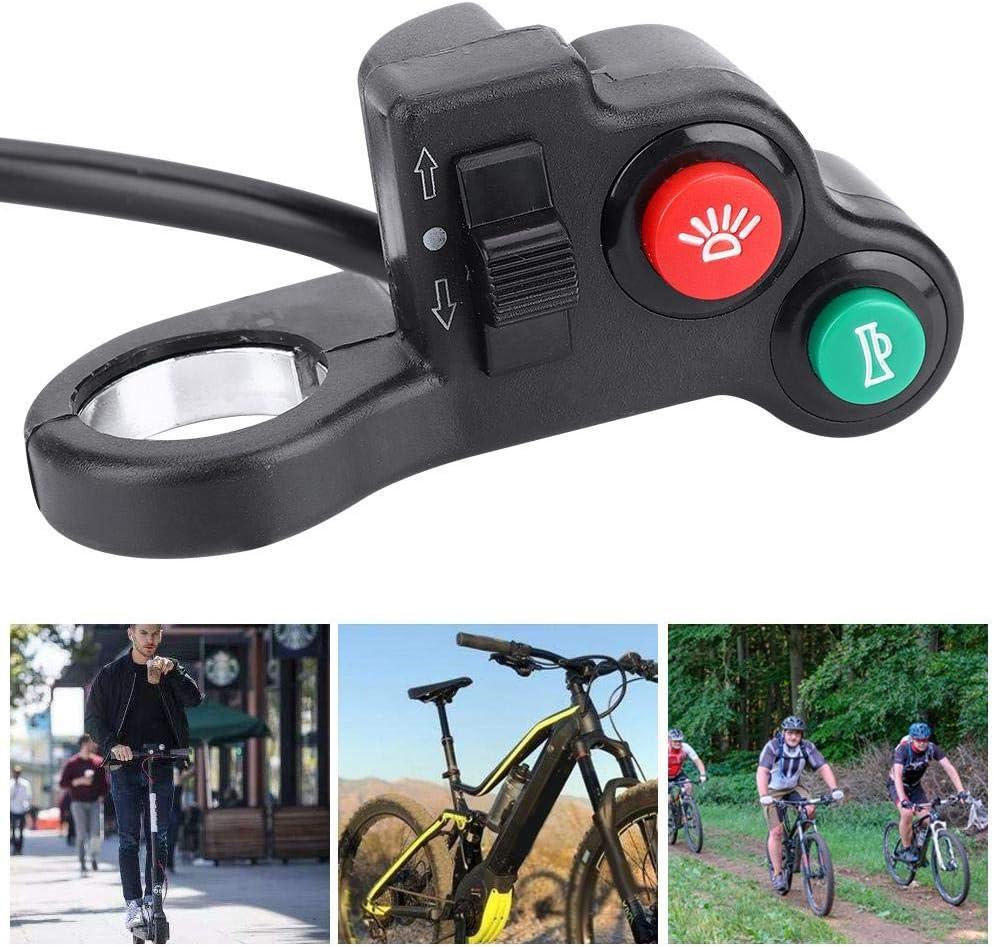 Bnineteenteam 2-in-1 E-Bike Handlebar Head Light Horn Switch ON//OFF Button for Motorcycle E-Bike