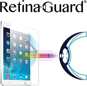 RetinaGuard 2018 iPad Anti UV, Anti Blue Light Tempered Glass Screen Protector Compatible With iPad Pro 9.7 Inch, iPad Air2, iPad Air, SGS and Intertek Tested, Blocks Excessive Harmful Blue Light, Reduce Eye Fatigue and Eye Strain