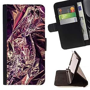 Jordan Colourful Shop - purple tinfoil reflective metal silver For Samsung ALPHA G850 - Leather Case Absorci???¡¯???€????€???????&bdq