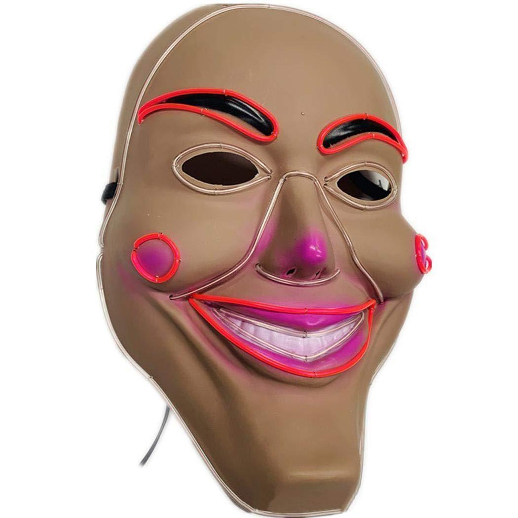 fnemo Maschera di Halloween,Maschera di Bagliore di Halloween Cosplay Costume Maschera illuminata per Halloween Festival Party