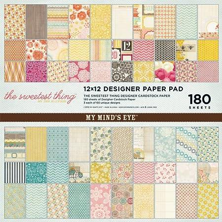 My Minds Eye Scrap Sweetest Things - Pack de 180 Hojas para Manualidades, Multicolor: Amazon.es: Hogar