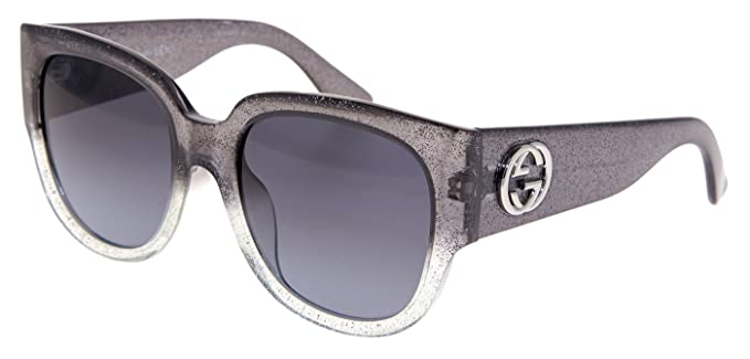 c75fd0705bf Image Unavailable. Image not available for. Colour  GUCCI GLITTER GG3836FS  Square Grey Silver ASIAN FIT Sunglasses ...