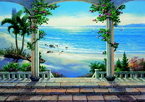 Huge Photo Wall Mural 12 Feet 6 Inch Wide X 9 Feet High Covers An Entire Wall! Tropical Beaches, Waterfalls, Mountains, Nature (Floral Patio)