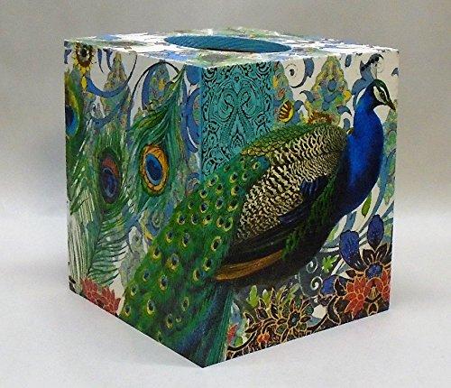 Handmade Decoupage Wood Tissue Box, ()