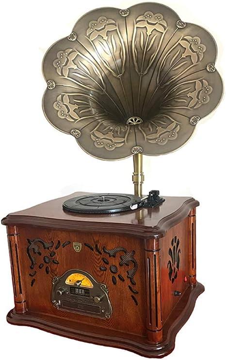 LSL Gramófono fonógrafo Antiguo Tocadiscos de Vinilo Retro Radio ...