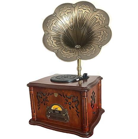 LSL Gramófono fonógrafo Antiguo Tocadiscos de Vinilo Retro ...