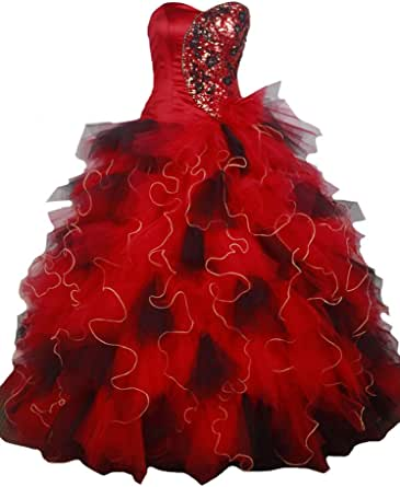 Silk Love Women's Sweetheart Tow-Tone Ball Gowns Girls