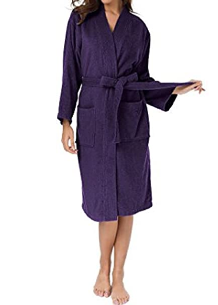 Image Unavailable. Image not available for. Color  e-XCEPTIONAL SALES Kimono  Style Women s 100% Cotton Terry Cloth Spa Bathrobe ... 2ae8558ea