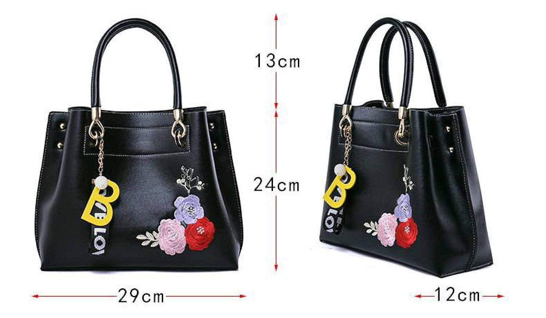 Thumby Frauen Tasche Handtasche Einfache Stickerei Stickerei Stickerei Persönlichkeit Trend Klassische Komfortable großzügige Tasche B07GN3TBBR Turnbeutel Neuankömmling e095bc