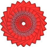 24 Pack Cotton Square Handkerchiefs Wreath Bandana,Red