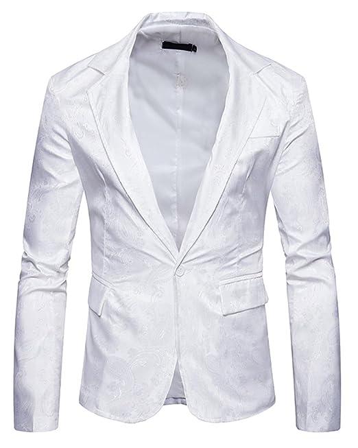 Trajes De Fiesta Casuales De Los Hombres Patrón Traje De Impresión Blazers DIVLm8