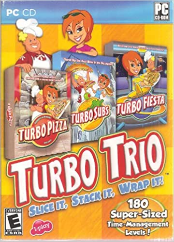 Turbo Trio: Slice It, Stack It, Wrap It: Turbo Pizza, Turbo Subs, Turbo Fiesta (PC CD, 180 Super-Sized Time Management Levels) Windows XP/Vista: Unknown: ...