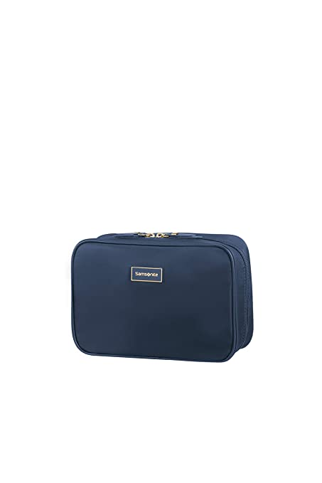 b9ab5f942b95 SAMSONITE Karissa Cosmetic Cases Weekender Toiletry Bag, 22 cm, Blue ...