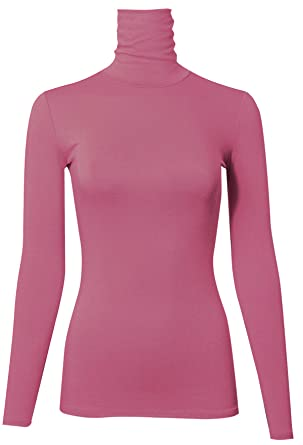 PINMUSE Women s Long Sleeve Quality Turle Neck Top Pullover Made in USA S  to 3XL ( b5a779f28