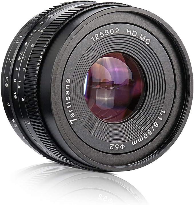 7artisans 50mm F1 8 Manueller Objektiv Große Blende Für Kamera